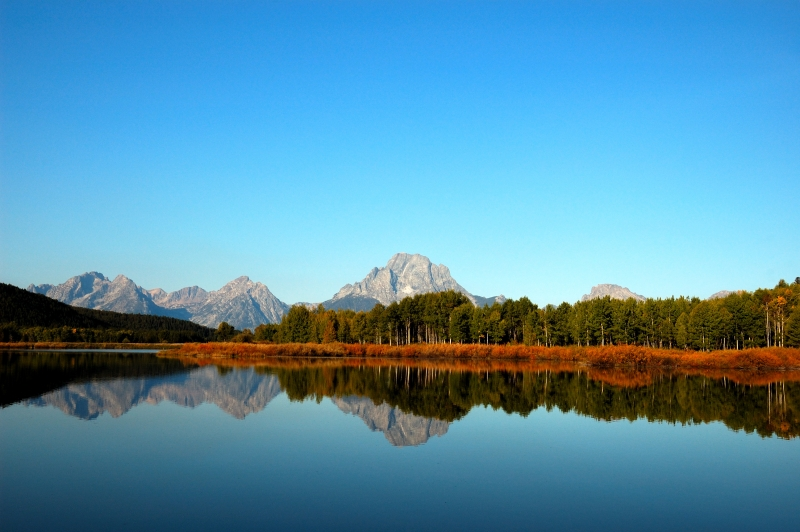 Mt. Moran Of The Grand Teton National Park