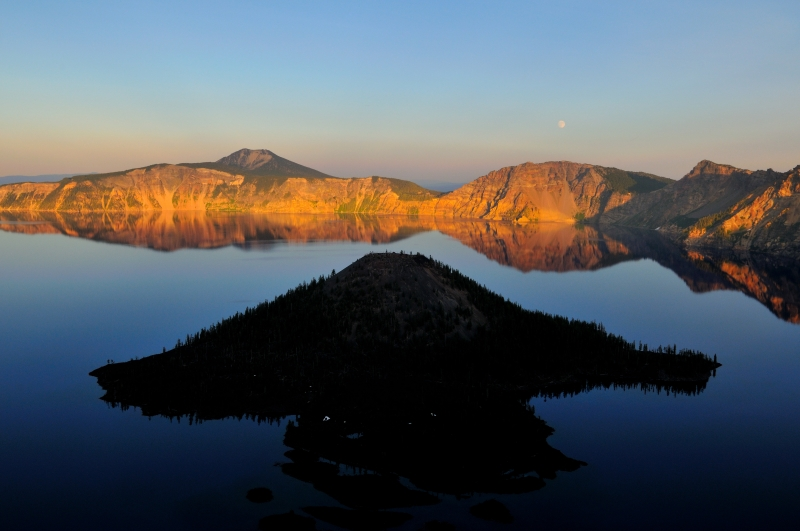 Sunset At The Crater Lake