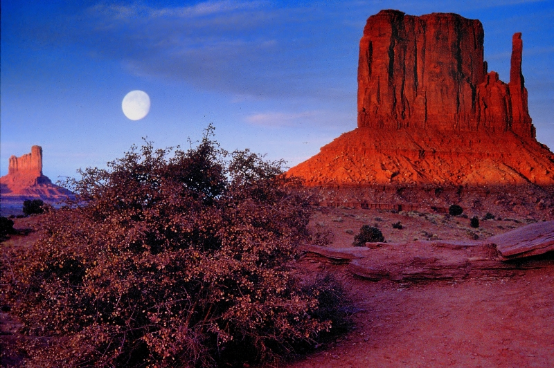 Moonrise At Monument Valley