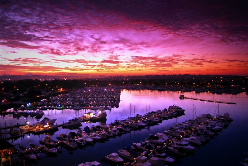 Sunrise Over San Diego Bay