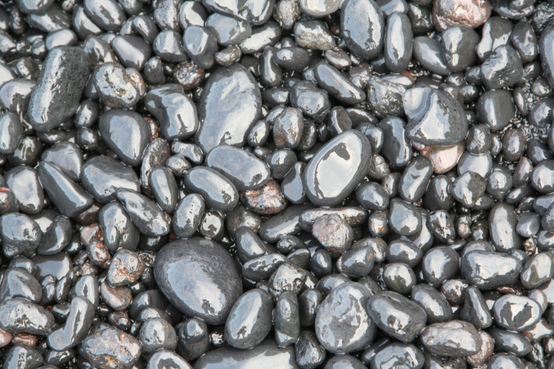 Wet Black Pebbles