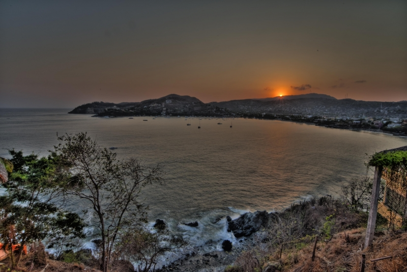 Zihuatanejo Bay At Sunset
