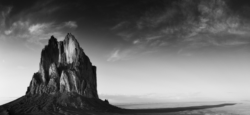 Shiprock And Shadow
