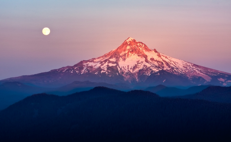 Sturgeon Moon Over Mount Hood