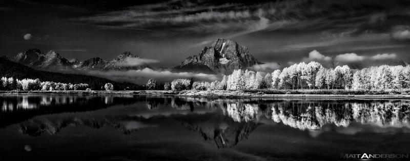 Ox Bow Bend #2 In Bw