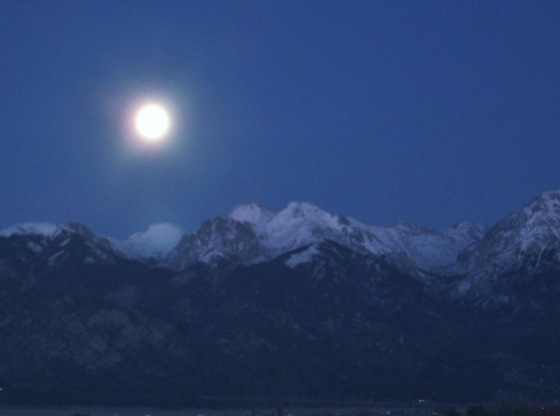 Moon Over Crestone Peak