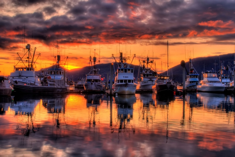 Hdr Sunset Cordova Harbor