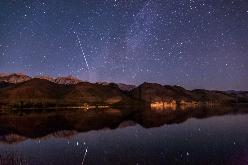 Meteor Over Diaz Lake