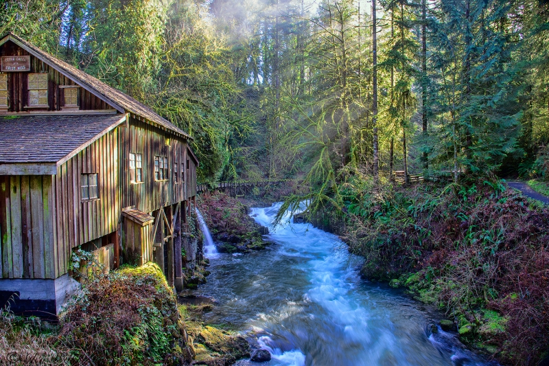Cedar Creek Grist Mill Early Morning