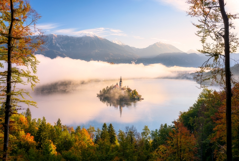 Autumn View In Bled – Slovenia