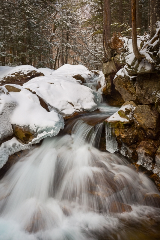 Pemigewasset Falls In Winter