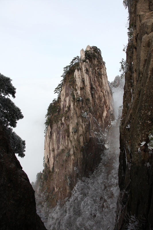 Pinnacle And Sheer Cliffs Of Huangshan