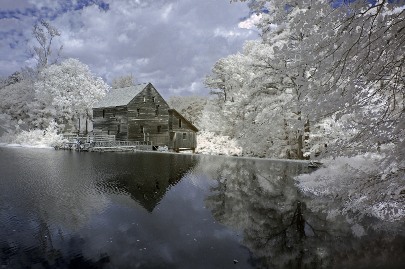Historic Yates Mill, Infrared