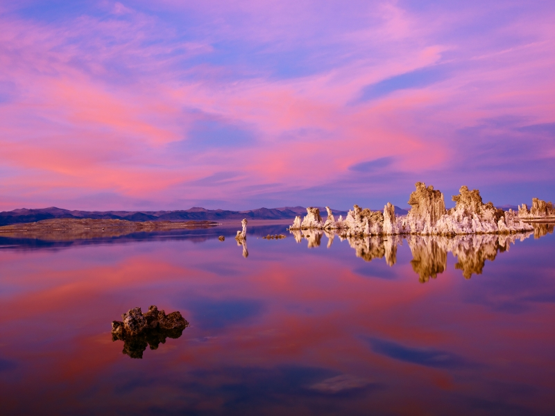 Tranquil Mono Lake In Full Moon Evening