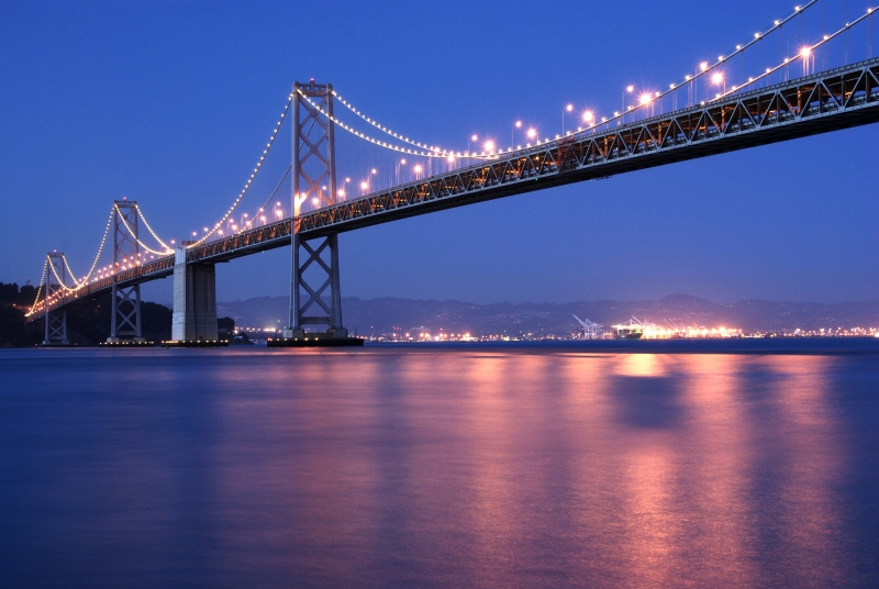 Twilight At The Bay Bridge