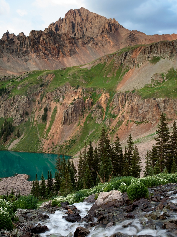 Blue Lakes And Mt. Sneffels