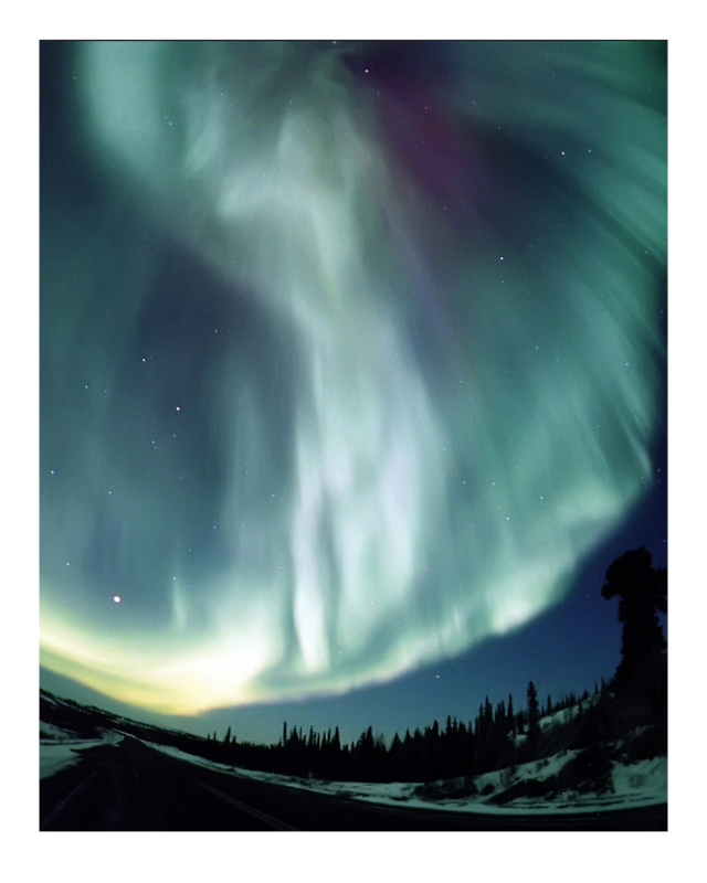 Big Aurora At Yellowknife River Bridge Area,