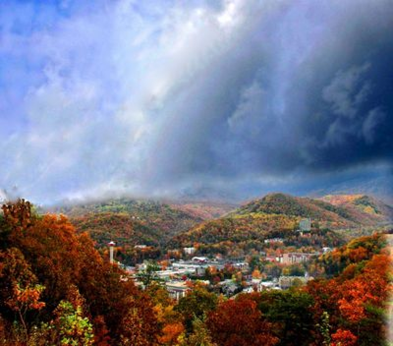 Autumn Storm Over Gatlinburg