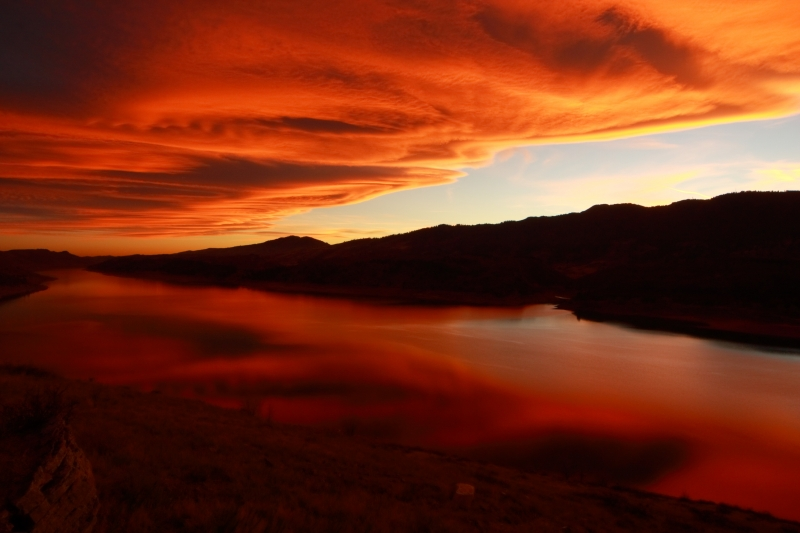 Changing Color Of A Horsetooth Sunset Iii