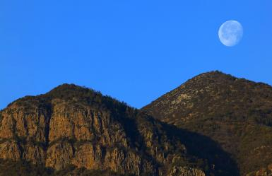 Moon Set Over The Huachucas