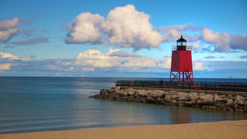 Lighthouse At Charlevoix