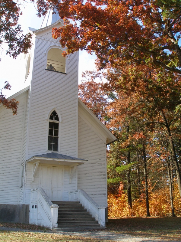 South New Hope Church In Fall