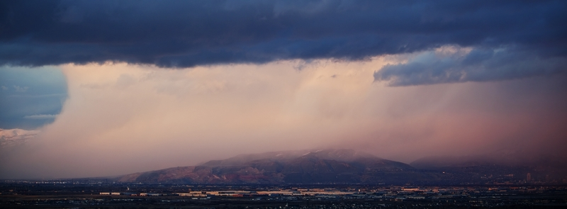 Storm Clouds Over Salt Lake City