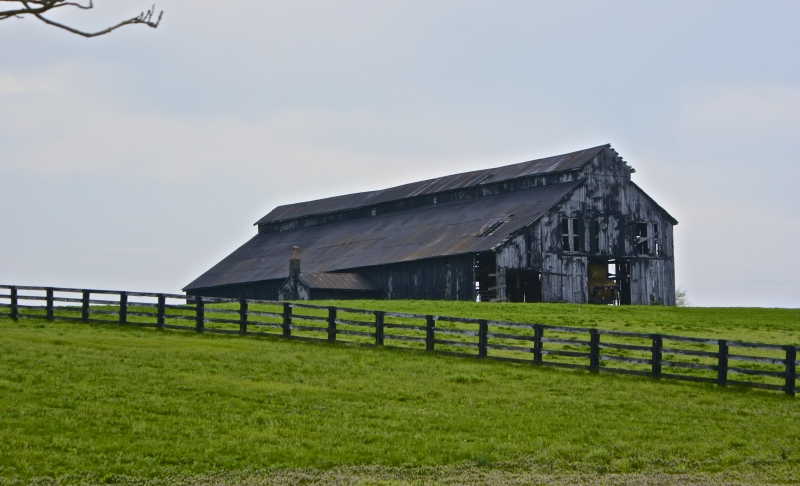 Barn On The Green Hill