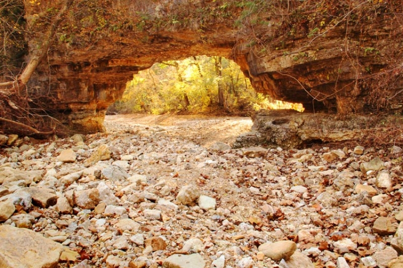 Sandstone Arch And Dry Creek 1