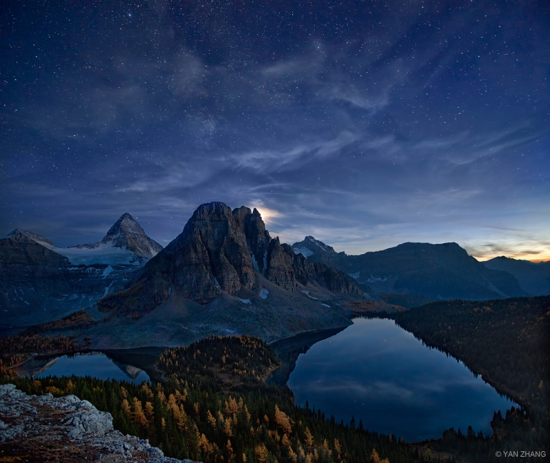 Starry Night At Mt Assiniboine