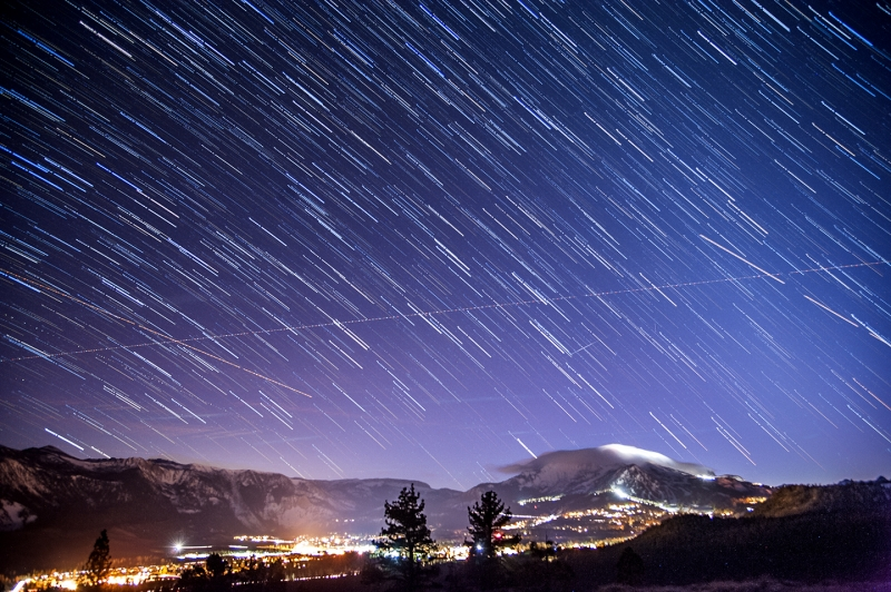 Star Trails Over Mammoth Mountain