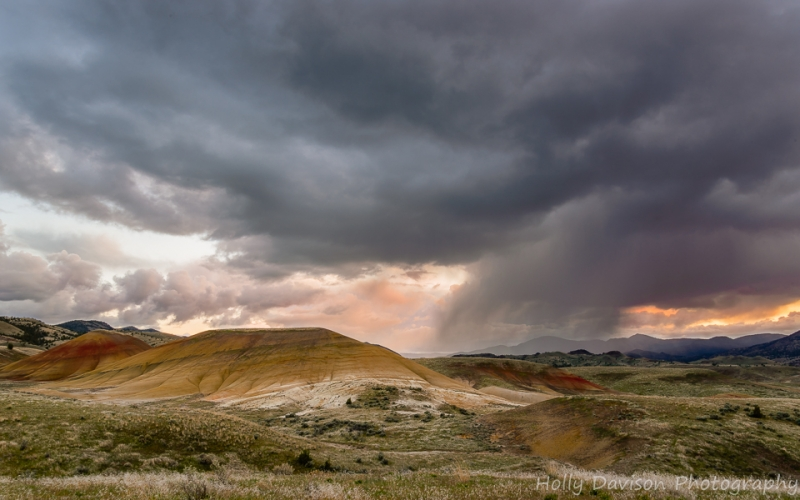 Stormy Sunset Painted Hills