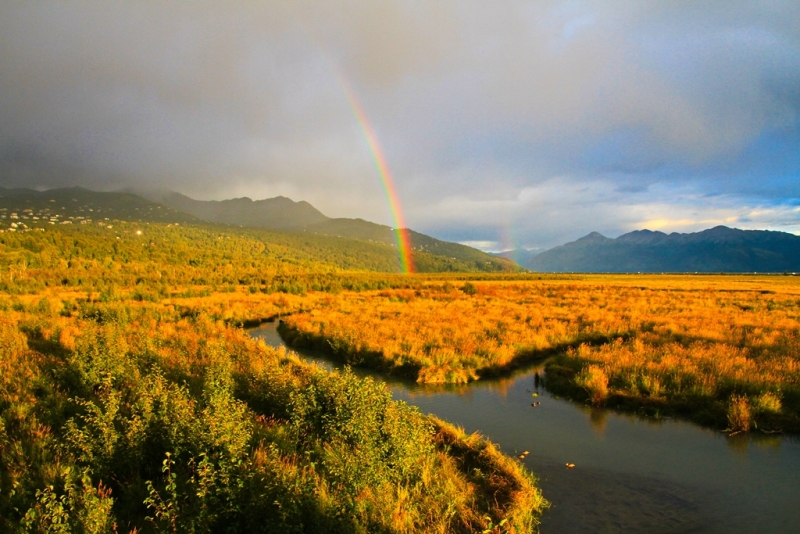 Potter Marsh Rainbow