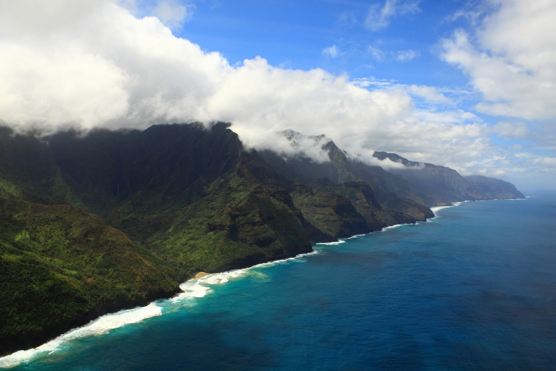 Napali Coast, Hawaii, Taken From Helicopter