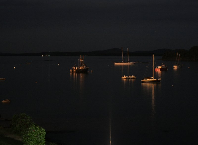 Bar Harbor At Night