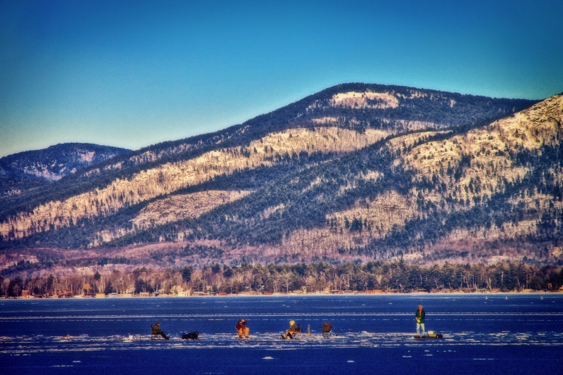 Ice Fishing On Lake George