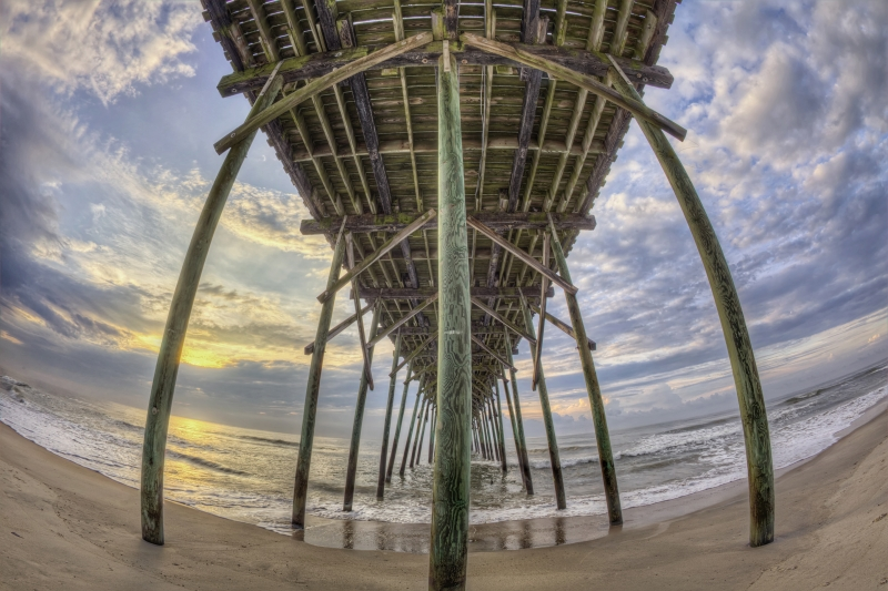 Kure Beach Pier, Fisheye View