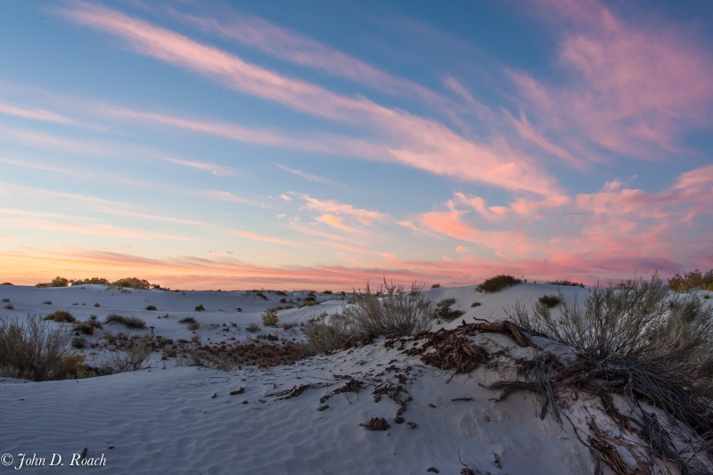White Sands Nm At Sunrise