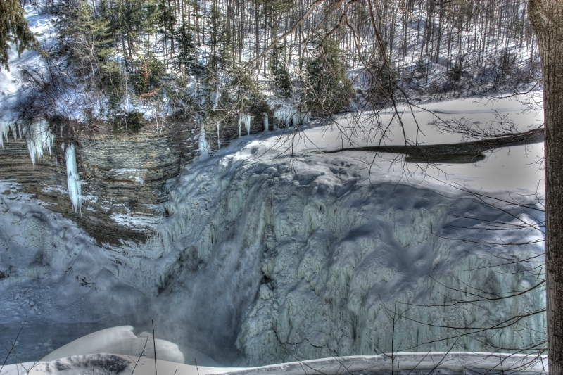 Frozen Middle Falls