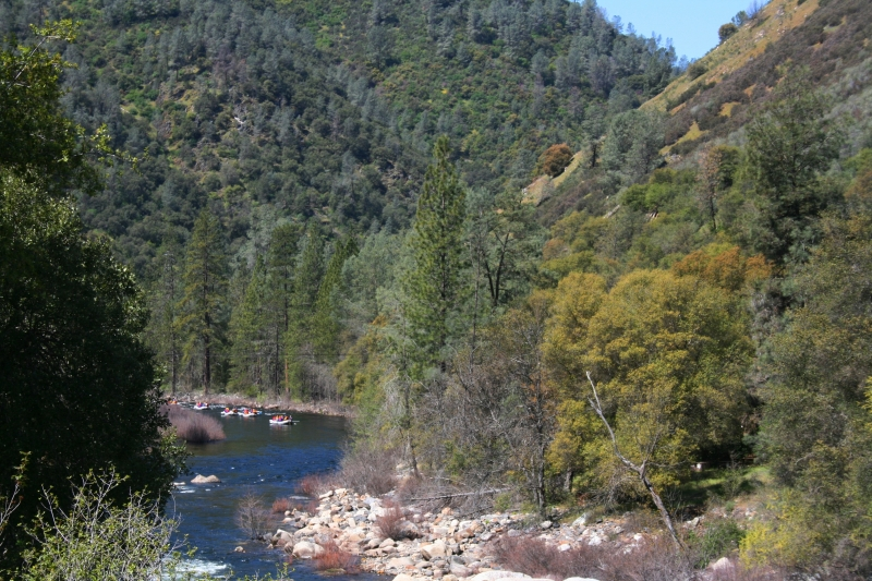 Water-rafting In The Merced River