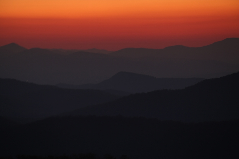 Sunset Layers, Blue Ridge Parkway