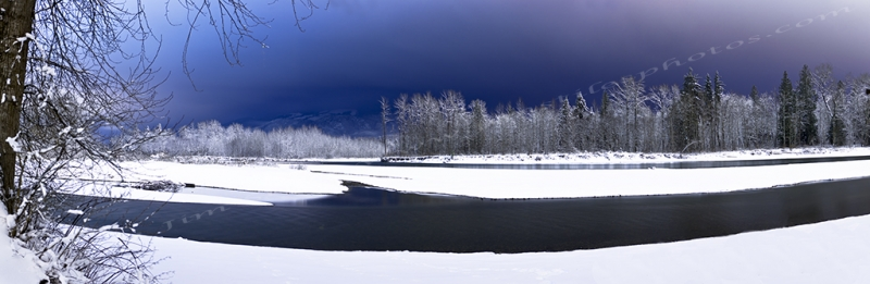 Skykomish River Night Panoramic