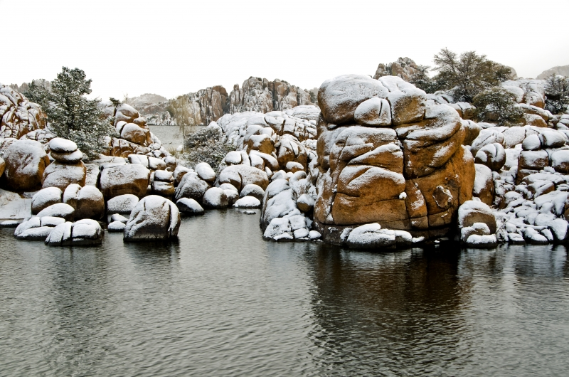 Snow-coated Granite Dells, Too