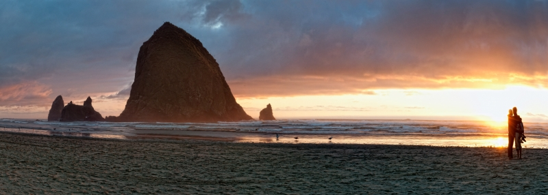 Cannon Beach Sunset Pano