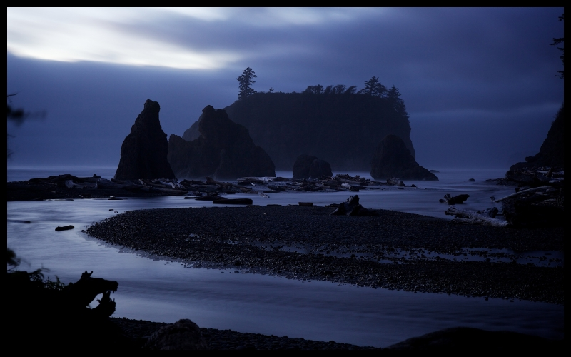 Magic Twilight At Ruby Beach