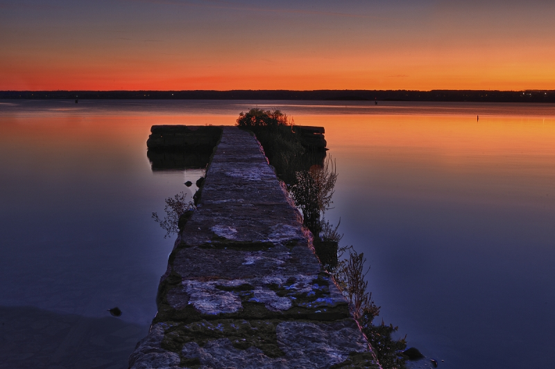 Seneca Lake Cloudless Sunset