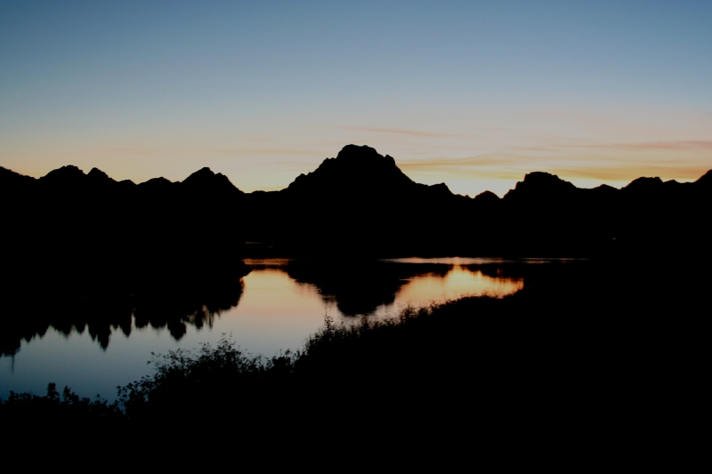 Sunset  Viewed From Oxbow Bend, Grand Teton National Park