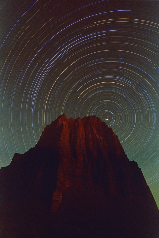 Star Tracks Over The Temple Of The Sun