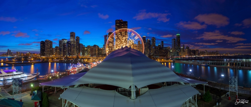 Navy Pier Blue Hour