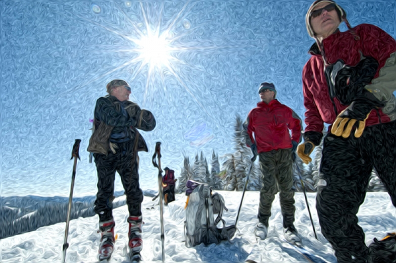 Backcountry Skiers Near Teton Pass